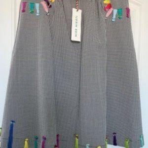 Mira Mikati Womens Multi-stitch Houndstooth skirt